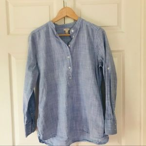 J Crew Sea Blue tunic size medium